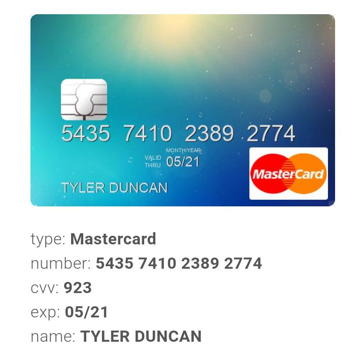 Credit cards you can get online instant number to use